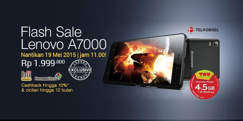 Lenovo A7000 Phablet 4G Dengan Dolby Atmos Meluncur Di Lazada 19 Mei 2015