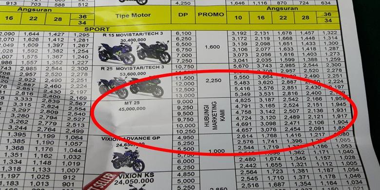 Nih Harga Resmi Yamaha MT 25 Yang Bocor Di PRJ