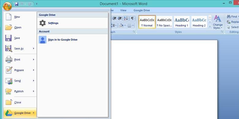 Cara Akses Google Drive Dari Microsoft Word