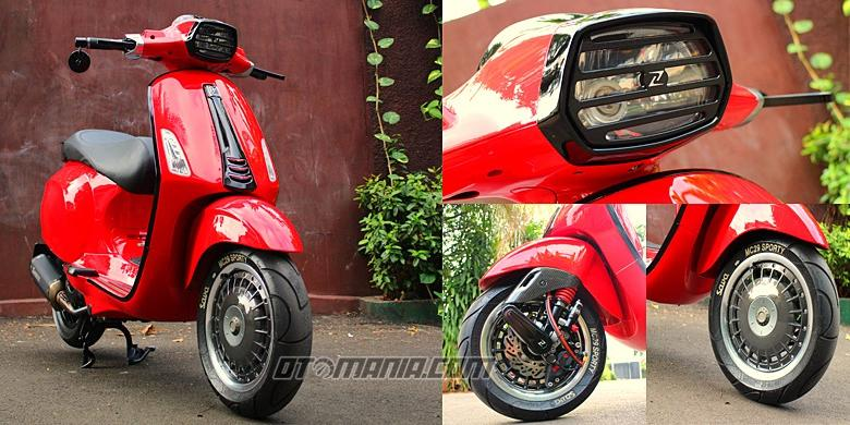 Vespa Sprint Racing Look Anti Mainstream Kompas Com