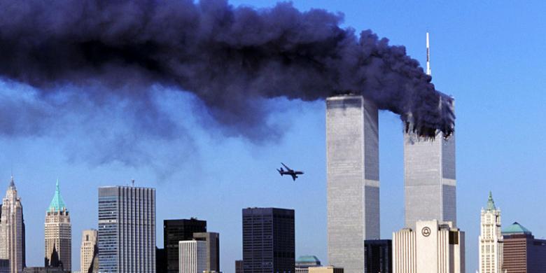 Hasil gambar untuk Peristiwa 11 September (9/11) di New York pada 2001