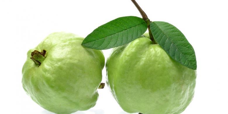 Ilustrasi kulit buah jambu biji yang sehat dan kaya manfaat