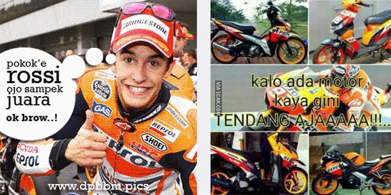 Aneka Meme Lucu Sindir Tendangan Rossi Ke Marquez