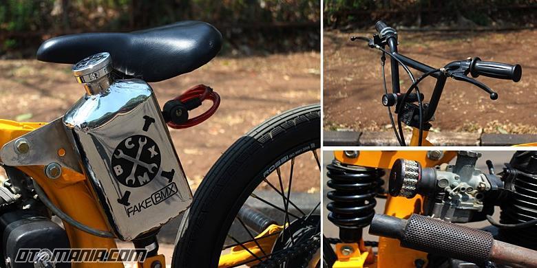 Honda Cb125 Disulap Jadi Sepeda Bmx