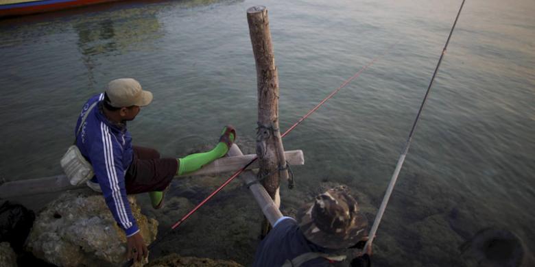 Geliat Baronang dari Pulau Lancang - Kompas.com
