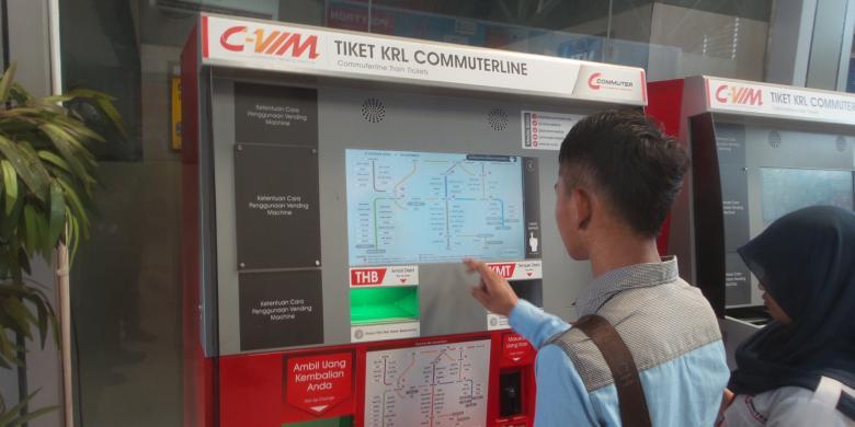 Ini Cara Membeli Tiket Di Vending Machine Krl Halaman All Kompas Com