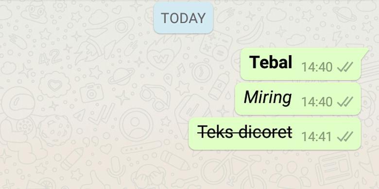 Cara Ganti Huruf Di Whatsapp Jadi Tebal Dan Miring Kompas Com