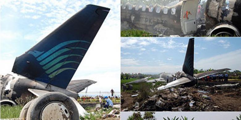 Puing-puing kecelakaan pesawat Garuda Indonesia GA-200
