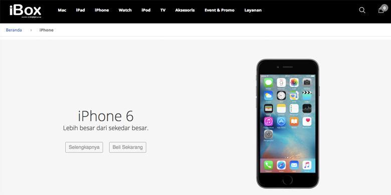 IBox Buka Situs Belanja Online Produk Apple