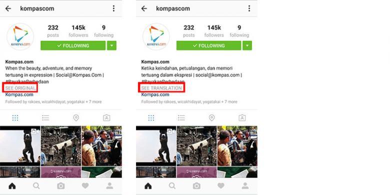 Instagram Mulai Rilis Tombol Penerjemah Bahasa
