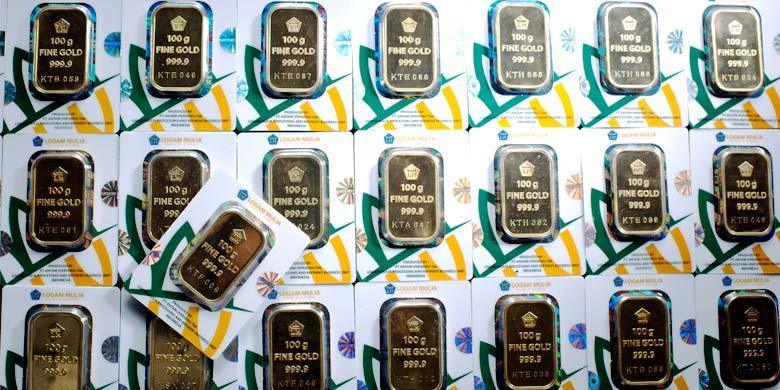 Harga Emas Antam Turun Rp 8000 Per Gram Kompascom