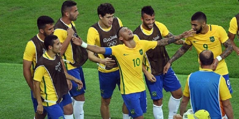 Untuk Kali Pertama Brasil Rebut Emas Sepak Bola Olimpiade