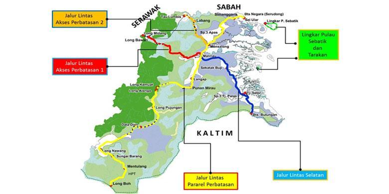 Gubernur Kalimantan Utara Bangun Jalan Di Kawasan Perbatasan