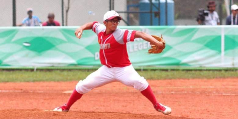 Ilustrasi cabor baseball pada Asian Games 2018.