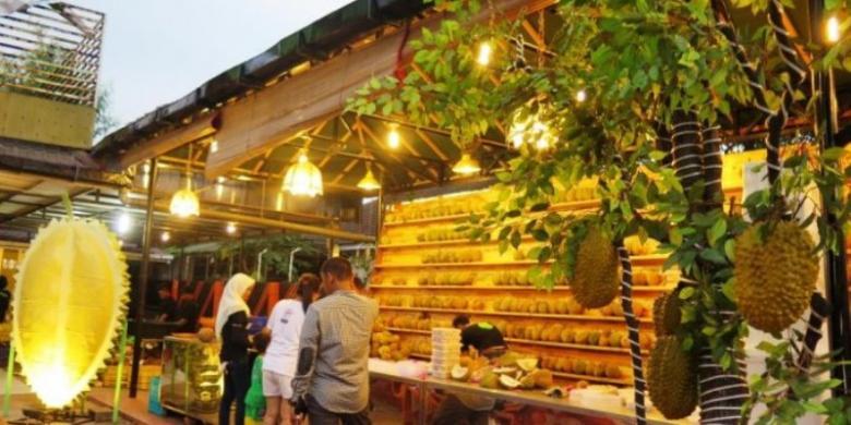 Ilustrasi kedai durian si bolang Medan