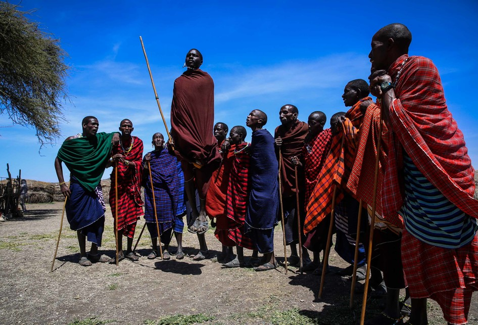 Suku Maasai di Area Konservasi Ngorongoro, Tanzania.