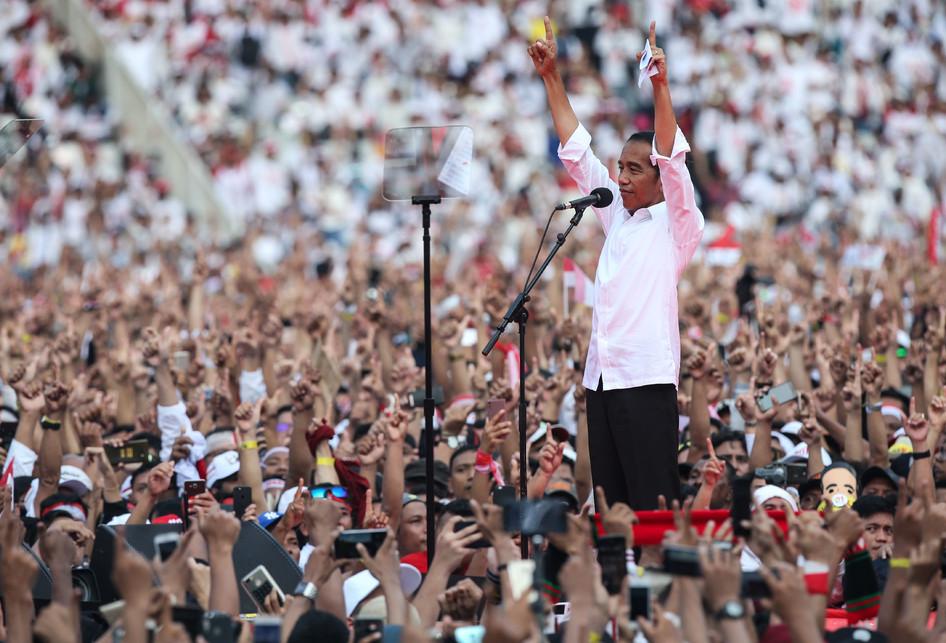 Orasi Politik Jokowi di Kampanye Akbar