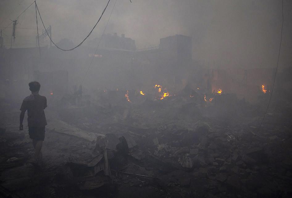Kebakaran di Kampung Bandan