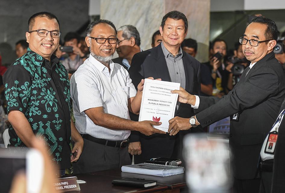 BPN Prabowo-Sandi Resmi Laporkan Gugatan Sengketa Pilpres ke MK