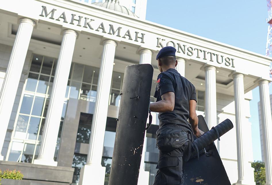 Pengamanan Sidang Kedua Sengketa Hasil Pilpres di Sekitar Gedung MK
