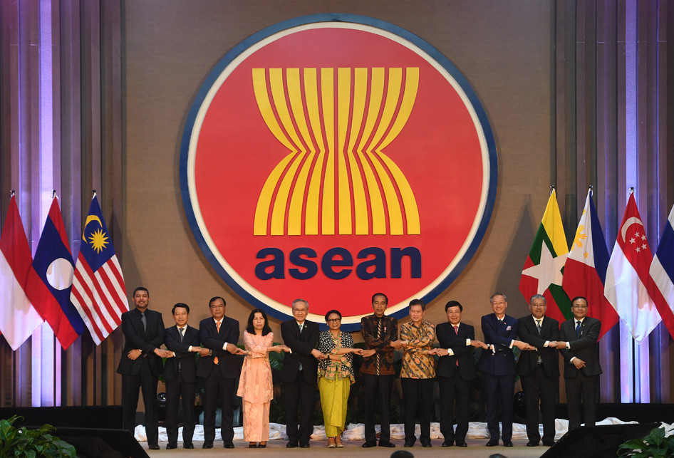 Inauguration of the new ASEAN Secretariat Building in Jakarta, Indonesia, August 8, 2019. Image: Reuters/Willy Kurniawan