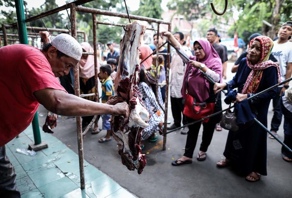 Pemotongan Hewan Kurban di Jakarta