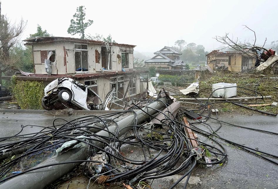 Dampak Topan Hagibis di Jepang
