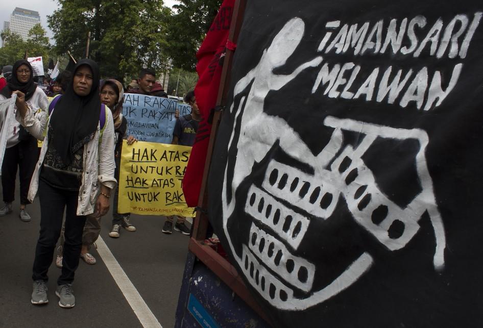 Warga Tamansari Gruduk Jakarta