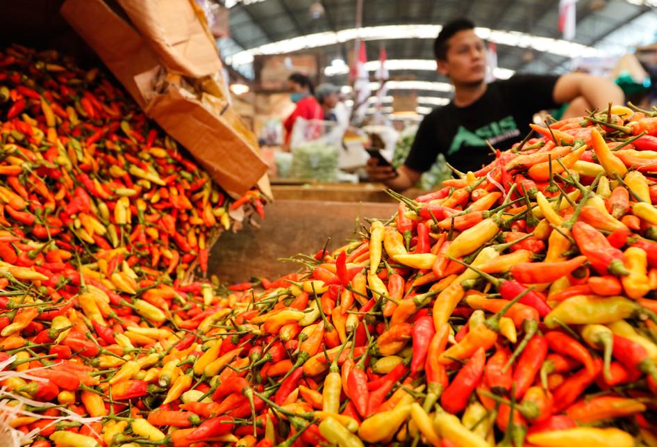 Harga Cabai Rawit Merah Di Pasar Induk Kramat Jati Mulai Turun