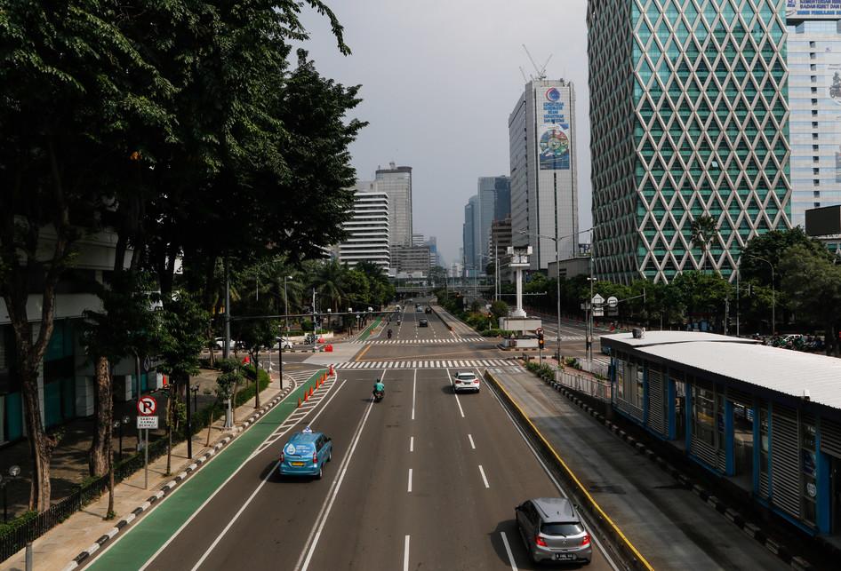 Akhir Pekan Jakarta Lengang saat PSBB