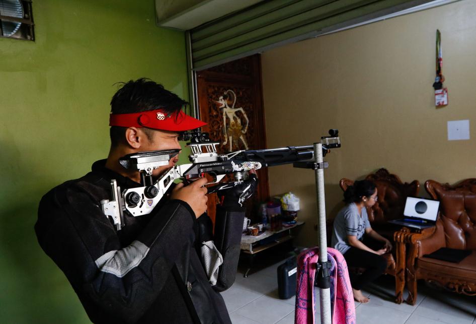 Latihan Mandiri Atlet Tembak Jabar