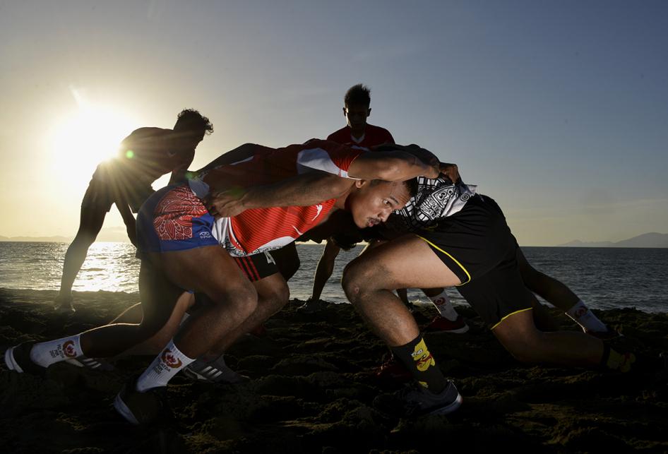 Latihan Atlet Nasional Cabor Rugby di Aceh
