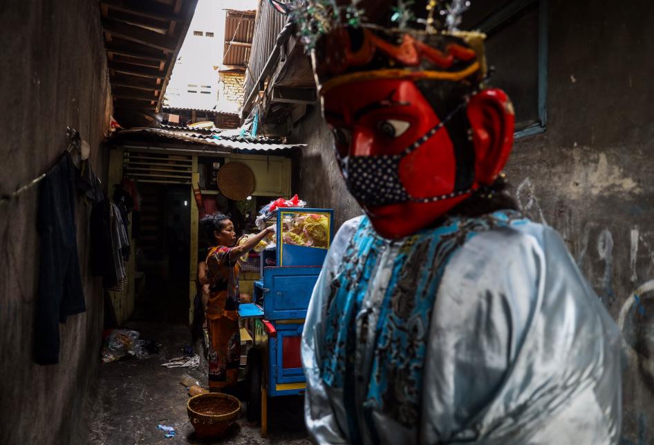Kampung Ondel-ondel di Kramat Pulo saat Pandemi Virus Corona