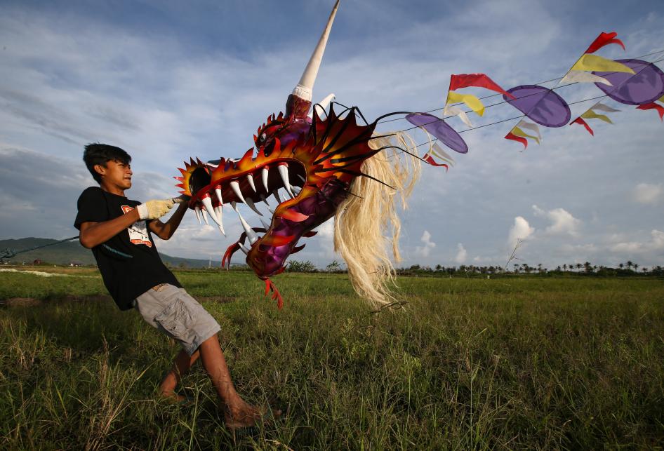 Wisata Layangan Naga Raksasa di Bantul
