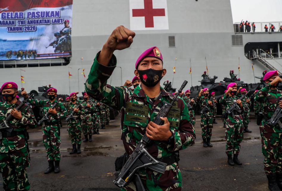 Apel Gelar Pasukan Kesiapsiagaan TNI Angkatan Laut 2020
