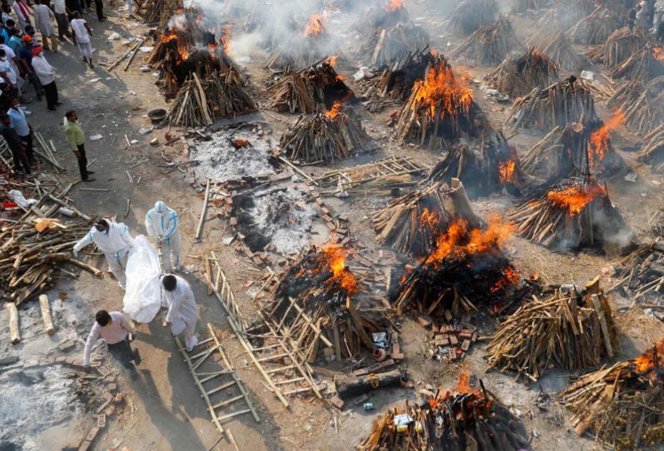 Potret Mengerikan Krisis Covid-19 di India