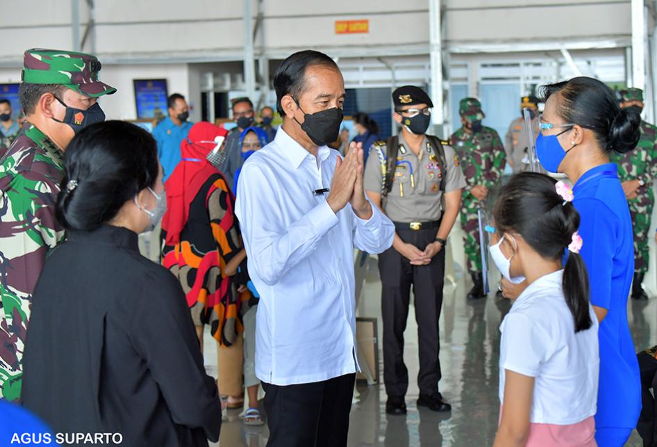 Jokowi Temui Keluarga Awak KRI Nanggala-402