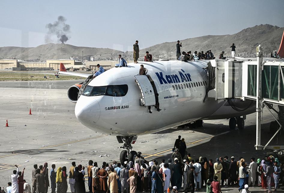 Kekacauan di Bandara Kabul Saat Warga Berebut Tinggalkan Afghani