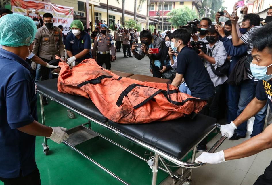 Jenazah Korban Kebakaran Lapas Tangerang