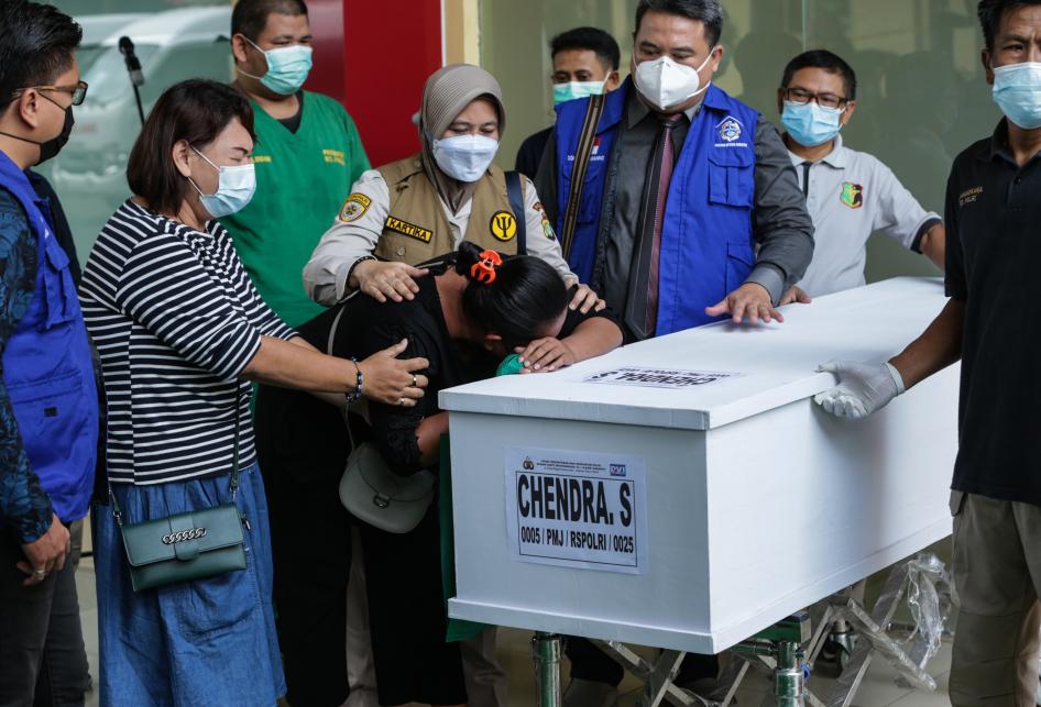 Penyerahan Jenazah Korban Kebakaran Lapas Kelas I Tangerang