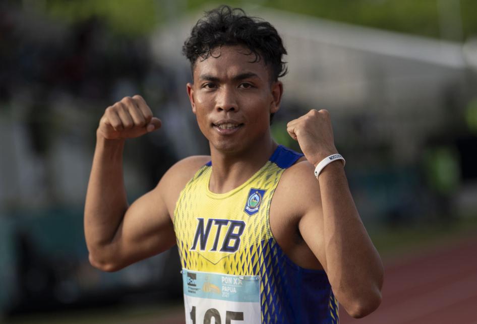 Lalu Zohri Raih Emas Lari 200 Meter PON XX Papua