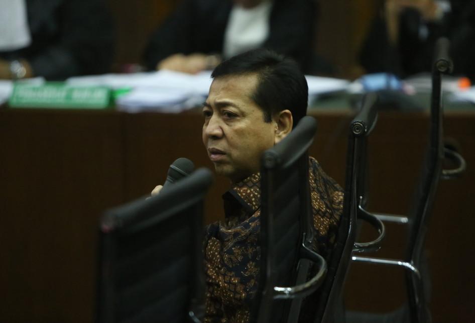 Setya Novanto di Pengadilan Tipikor Jakarta