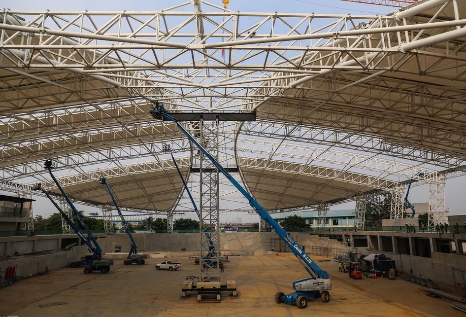 Pembangunan Arena Balap Sepeda Velodrome Asian Games 2018