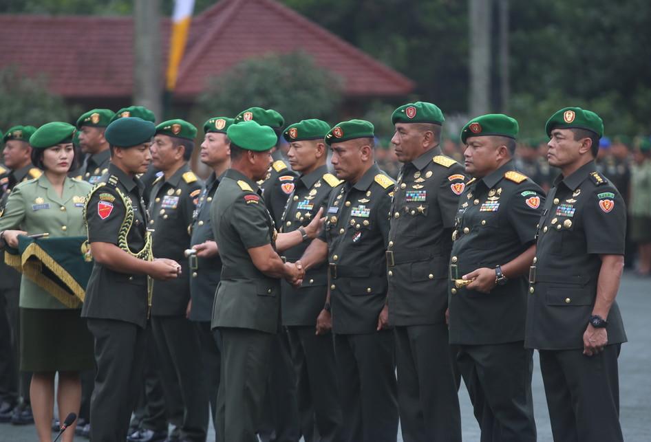 Sertijab Perwira Tinggi TNI AD di MAKODAM III Siliwangi, Bandung, Jawa Barat