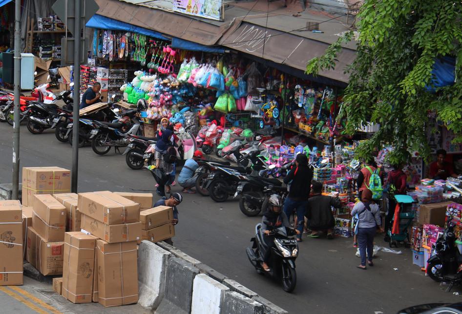Kondisi Pasar Gembrong yang akan Ditertibkan untuk Proyek Jalan