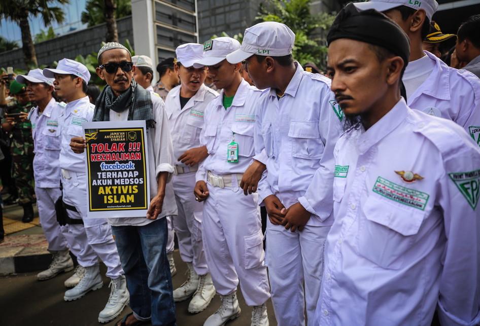 Ormas Islam Demo Penutupan Akun Facebook