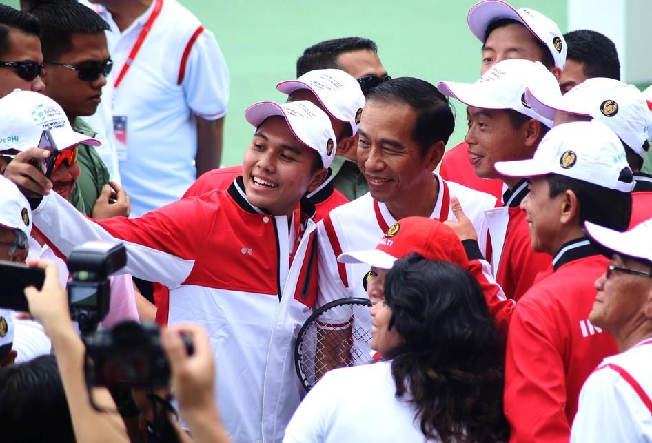 Joko Widodo meresmikan Tenis Indoor dan Outdoor Senayan Jakarta