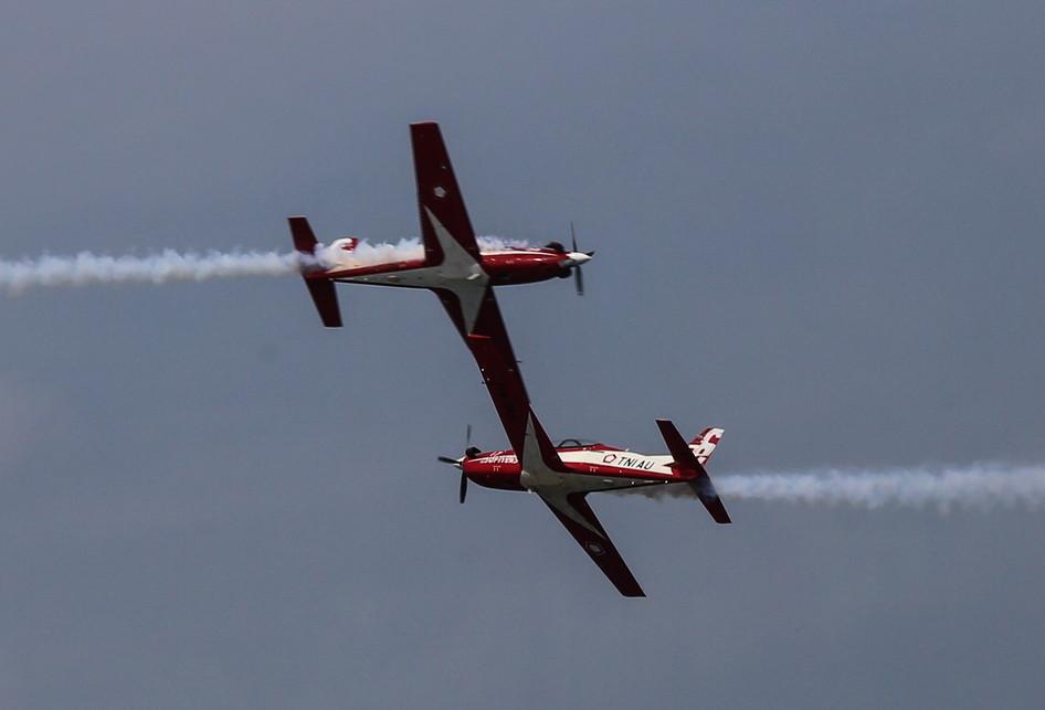 Pesawat tempur Jupiter Aerobatic Team TNI Angkatan Udara