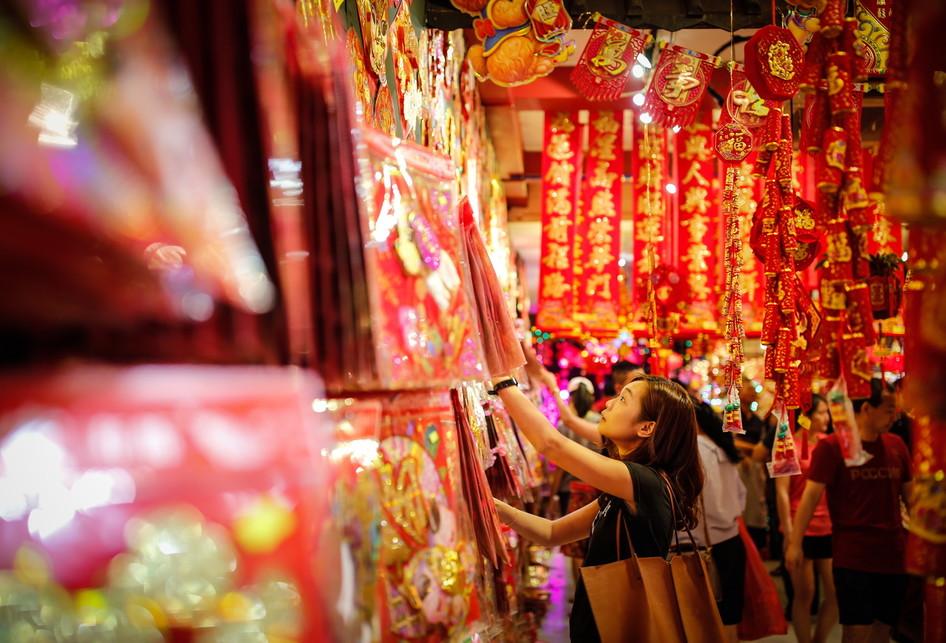 Chinatown Singapura Imlek