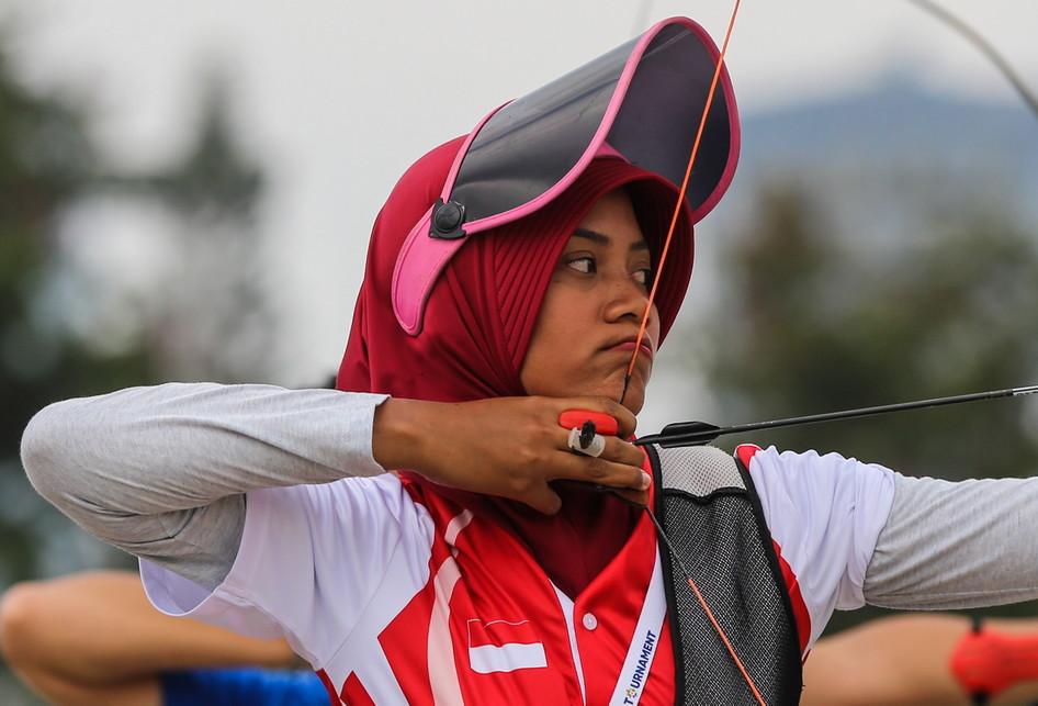 Atlet Panahan Riau Ega Agata dan Diananda Choirunisa Asian Games
